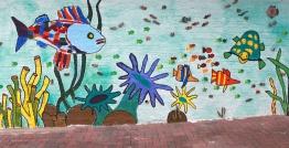 Gemeinschaftarbeit: Malerin Julia Schröder,Creativ Studio, Kinder & Erwachsene aus Egesdorf